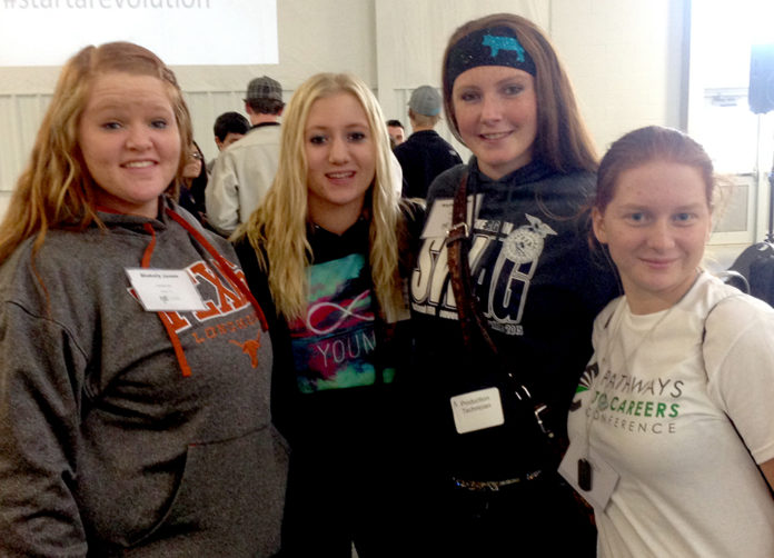 Blakely Jones, Leah Buller, Kaylee Hostler, Jacie Gravert. Not pictured Jacob Kruckenburg