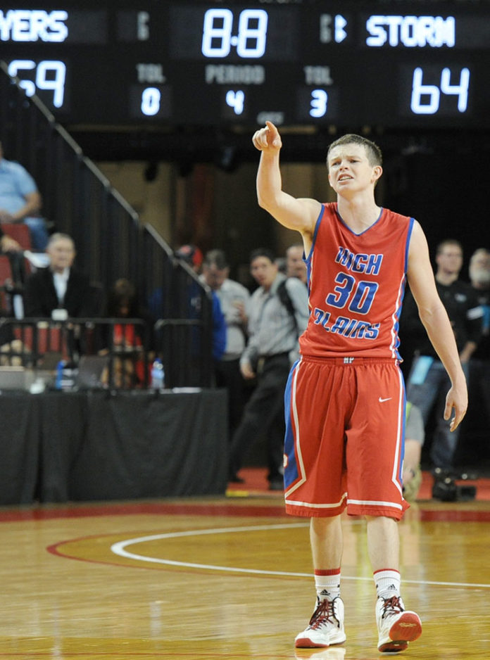 High Plains Community junior Thomas Young (30) is photographed in the final seconds of last year's state championship victory over Humphrey St. Francis. The Storm opens its season Friday at Giltner.